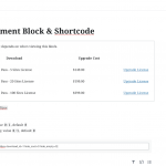 Upgrade Encouragement Block and Shortcode Configuration in a Post
