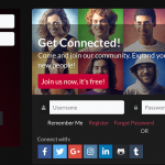 Social Login Options within PeepSo Profile Widget and Landing Page